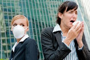 That sneeze will send germs through the air. See more staying healthy pictures.