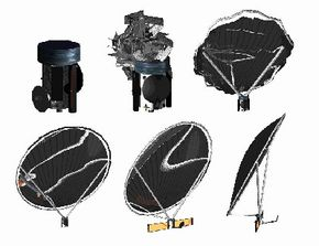 This image illustrates how the ARISE telescope will inflate once it is delivered into orbit.