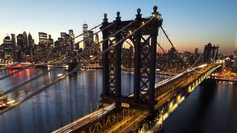 曼哈顿大桥和布鲁克林大桥