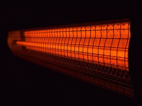 Infrared heaters produce heat that's a product of invisible light.