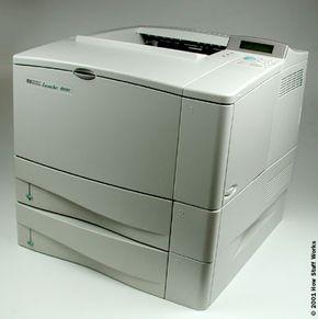 A Hewlett Packard LaserJet 4050T