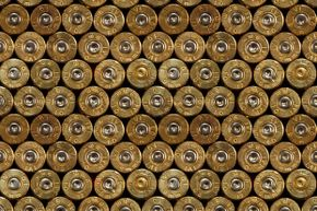 The smaller circular plug at the base of all these cartridges identifies them as center-fire cartridges.