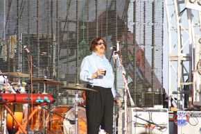 Tony Clifton introduces the Flaming Lips on the third day of the Hangout Music Festival 2012, on the Gulf Shores of Alabama.