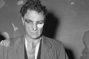 Anthony Esposito on Jan. 16, 1941, as he was brought before a police identification line-up.