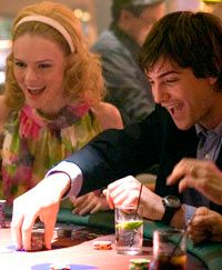 """In """"21,"""" when MIT student Ben Campbell (Jim Sturgess) joins the blackjack team and takes Vegas for millions, he finds himself seduced by the money, the lifestyle and his smart and sexy teammate, Jill Taylor (Kate Bosworth)."""
