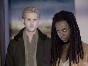 "Peter Facinelli (left) and Edi Gathegi (right) star in the thriller ""Twilight."""