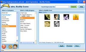 Elvis fans can find plenty of buddy icons on AIM.
