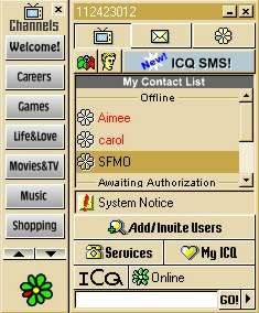 ICQ was one of the first IM applications.