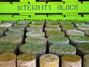 Composite soil samples at Integrity Block's laboratory.