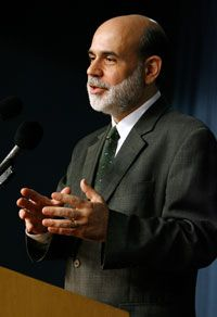 Ben Bernanke, Chairman of the Federal Reserve Board, sets the prime rate for home mortgages.