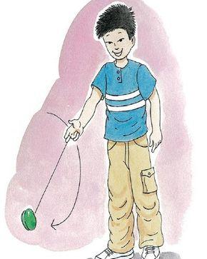 Let the yo-yo circle your hand outside your wrist.