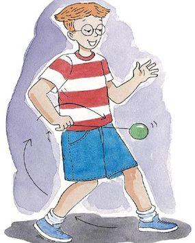 Give the string a tug to bring the yo-yo back.