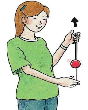 Lift the spinning yo-yo above your yo-yo hand.