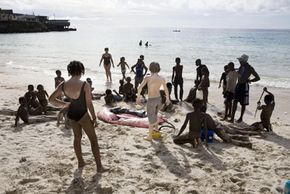 A few of the oceans' owners enjoy the beach in Comoros, an archipelago in the Indian Ocean. See more pictures of beautiful beaches.