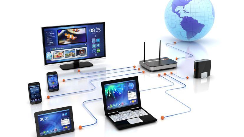 Cable Modem Connectivity Illustration