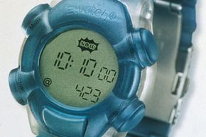 As you can see by this circa 2000 Swatch Beats product photo, the watch showed local time as well as Internet Time -- and it was @423 Internet Time when the photo was taken.