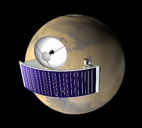 Six microsatellites like this one might be put into low Mars orbit to increase data return from Mars missions.