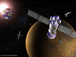 Satellites circling Mars could help send information back to Earth over an interplanetary Internet.