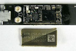 These are the iPad's WiFi and Bluetooth transceivers with the shielding removed.