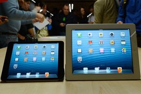 The iPad Mini and fourth generation iPad were displayed side-by-side at Apple's October 2012 press event where both devices were announced.