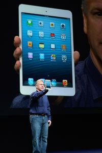 Phil Schiller, senior vice president of Apple worldwide marketing, announced the iPad Mini during an Apple press event on Oct. 23, 2012.