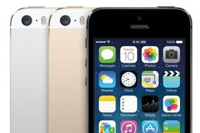"""The iPhone 5s is available in gold, silver or """"space gray."""""""