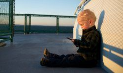 Is your 2-year-old a little too attached to your smartphone?