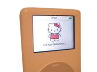 Hello Kitty customized iPod graphic