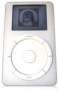 Linux on the iPod. See more iPod pictures.