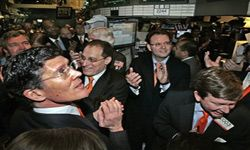 Vonage Holdings Corp. founder, chairman and chief strategist Jeffrey Citron celebrates his company's IPO with then-New York Stock Exchange CEO John Thain after the opening bell on May 24, 2006. The celebration wouldn't last long.