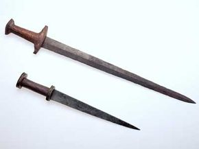 These daggers are an example of the kind of superior weaponry that Iron Age civilizations were able to craft.
