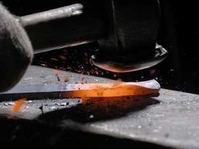 A skilled blacksmith can work heated iron into just about any shape imaginable.