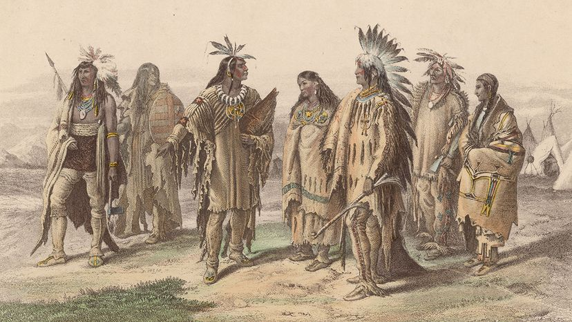 iroquois, sioux, dakota indian