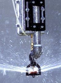 Variable-flow irrigation sprinkler head.