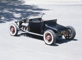 The rear end of the Isky T is mounted behind the spring, giving the hot rod a unique line.