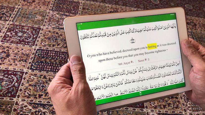 Quran on tablet