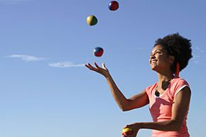 Juggling improves a wide variety of motor skills. See more pictures of bodily feats.