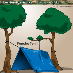 A simple A-frame tent can protect you from the elements. But who will protect you from yourself?