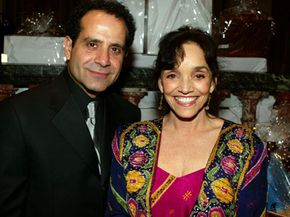 Actor Tony Shalhoub and actress Brooke Adams attend the Junior League of Los Angeles' annual gala on Mar. 5, 2005.