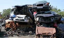 Junkyards are prime spots for dumping stolen cars.