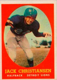 Jack Christiansen was the leader of defense. See more pictures  of football players.