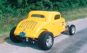 Jake's Coupe distinctive look is due in part to the large E.T. III wheels in back and the smaller Real Wheels in front.