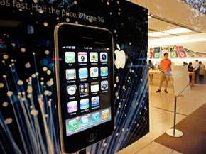 The new Apple iPhone 3G is advertised in Palo Alto, Calif., Monday, July 7, 2008.