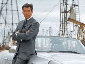 """Pierce Brosnan, the fifth James Bond, in the 1999 film """"The World is Not Enough."""""""