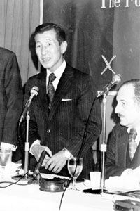Lieut. Hiroo Onoda, upon his return to Japan in 1975.