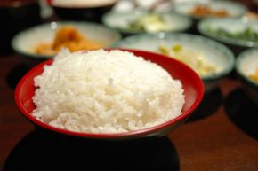 Rice is the main staple of Japanese cuisine and was traditionally eaten three times a day.