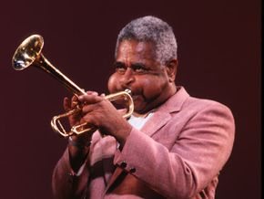 Dizzy Gillespie, a major figure in the development of bop