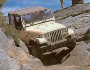 One of the most difficult parts of Jeep four-wheeling is traveling over rocks.