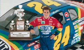 Jeff Gordon's good looks and brilliant driving has helped NASCAR's popularity with the mainstream. See more pictures of NASCAR.
