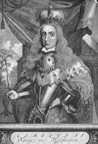 King Charles (Carlos) II, ruler of Spain from 1665 to 1700
